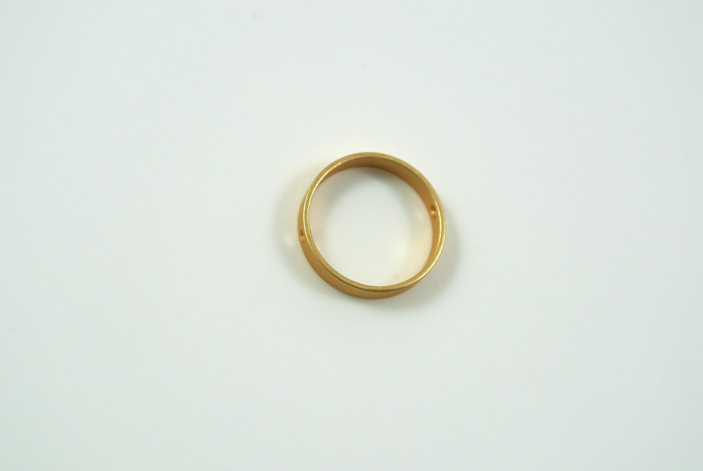 Bead Frame Round 13mm Satin Gold Electroplated 1 Piece