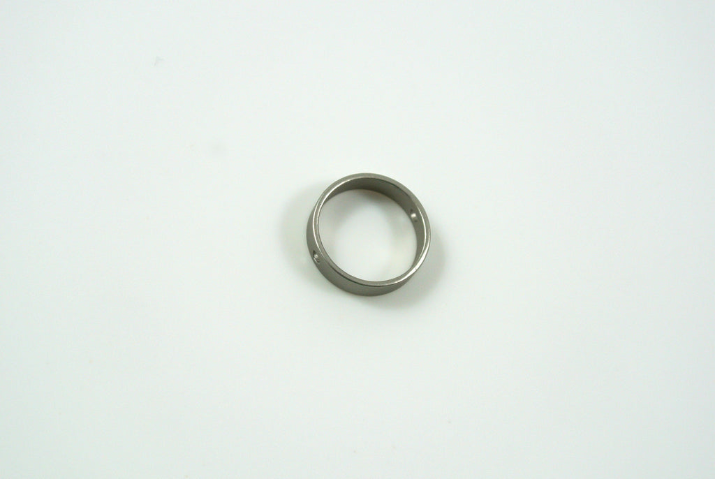 Bead Frame Round 10mm Satin Rhodium Electroplated 1 Piece