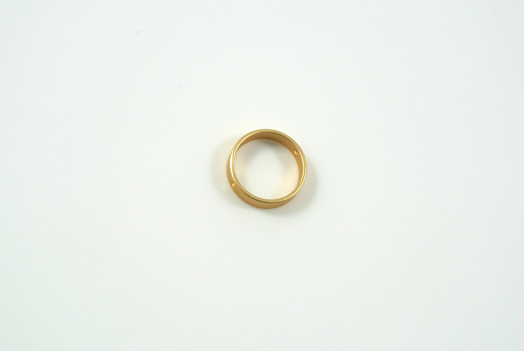 Bead Frame Round 10mm Satin Gold Electroplated 1 Piece