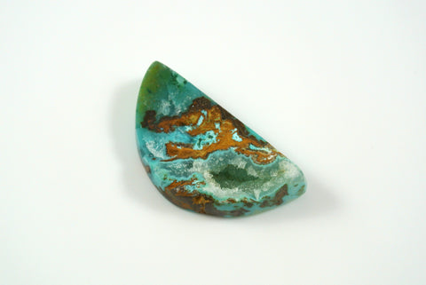 Cabochon Chrysocolla in Quartz 19x35mm