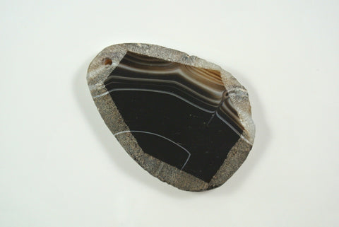 Black Sardonyx Free Form Pendant 33x42mm