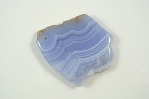 Blue Lace Agate Free Form Pendant 42x47mm