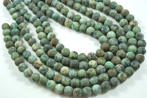Matte African Turquoise Round 10mm