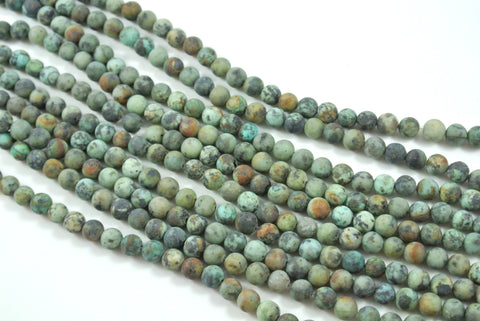Matte African Turquoise Round 6mm