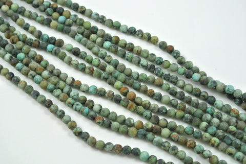 Matte African Turquoise Round 4mm