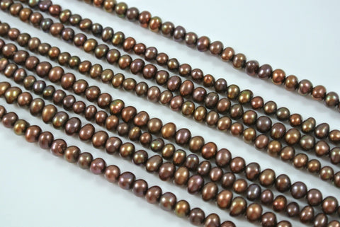 Freshwater Pearl Chocolate Iris Potato 3.5-4mm