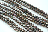Freshwater Pearl Chocolate Iris Semi Round 5-6mm
