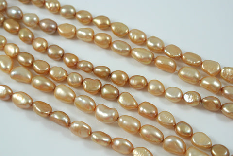 Freshwater Pearl Champagne Baroque 8-12mm