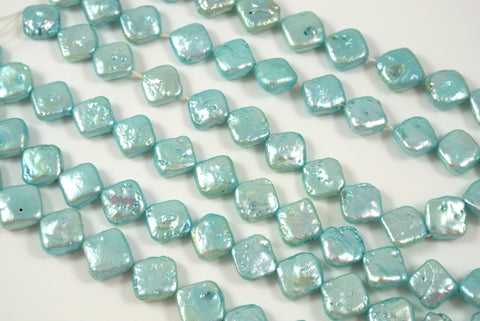 Freshwater Pearl Light Aqua Blue Diamond 9.5-10mm