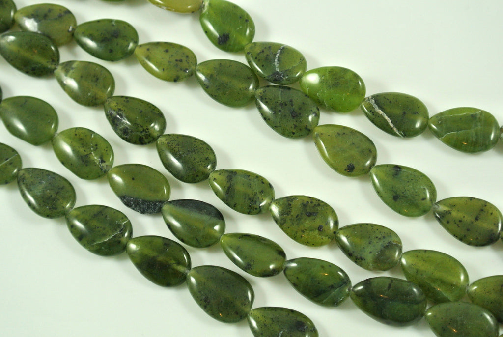 Nephrite Jade Teardrop 10x14mm