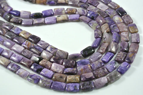 Charoite Rectangle Pillow 8x12mm