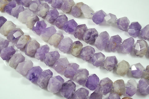 Cape Amethyst Faceted Freeform Nugget 13-22mm