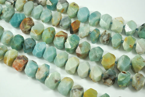 Amazonite Faceted Freeform Nugget 13-22mm
