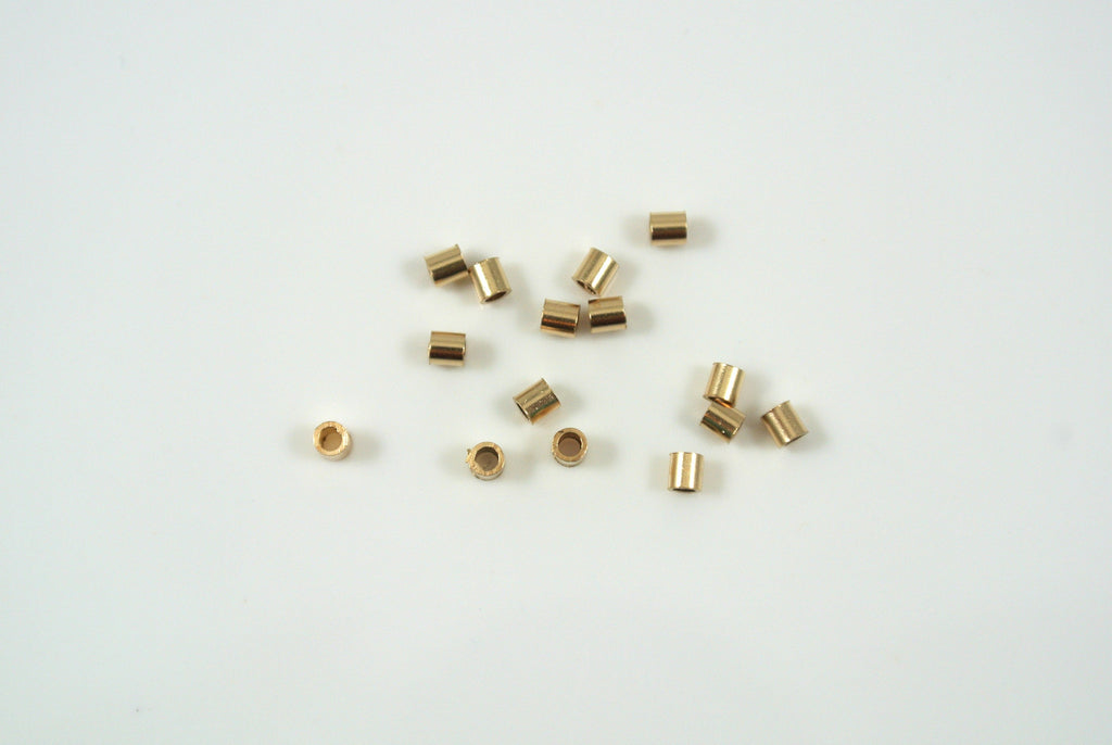 Gold-Filled Crimp Tube Bead 2x2mm 20 Pieces
