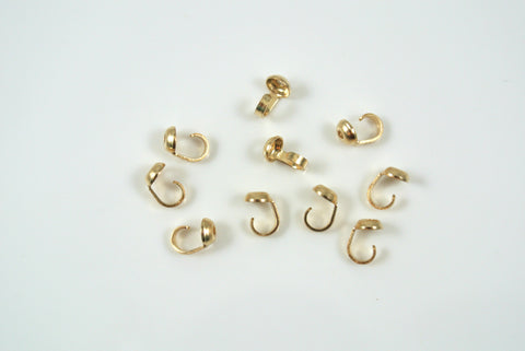 Gold-Filled Cup Style Bead Tip 1mm Hole 10 Pieces