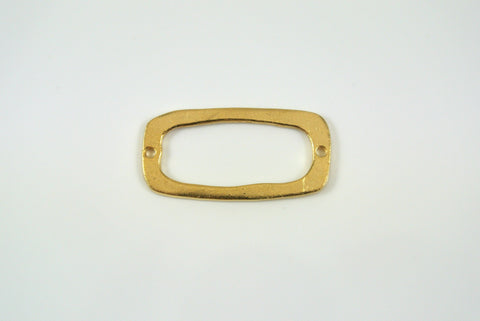 Link Rectangle Satin Gold Electroplated 15x31mm 1 Piece