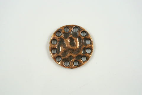 Link Round Textured Copper 21mm 1 Piece