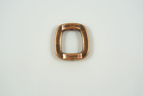 Bead Frame Irregular Square Antique Copper Electroplated 16mm 1 Piece