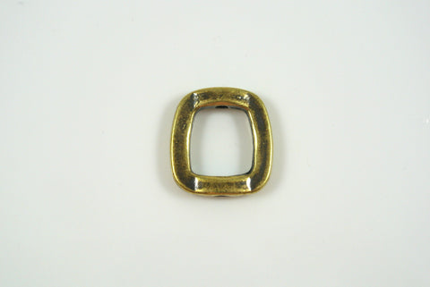 Bead Frame Irregular Square Antique Brass Electroplated 16mm 1 Piece