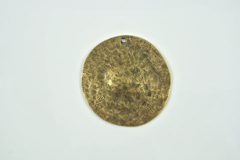 Disk Round Antique Brass Electroplated 34mm 1 Piece
