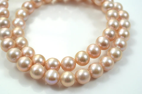 Freshwater Pearl Pale Pink Round 8mm 2 Beads
