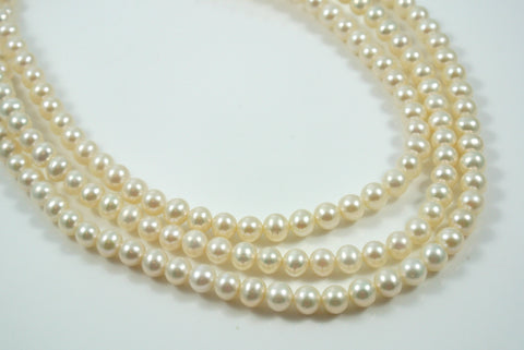 Freshwater Pearl White Round 6mm