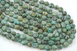 African Turquoise Freeform Tumbled Nugget 12-14mm