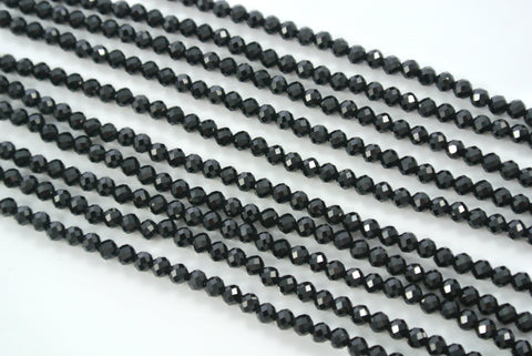 Spinel Black Round Faceted 3mm