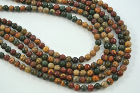 Red Creek Jasper Round 6mm