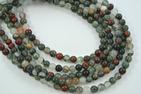 African Bloodstone Round 6mm