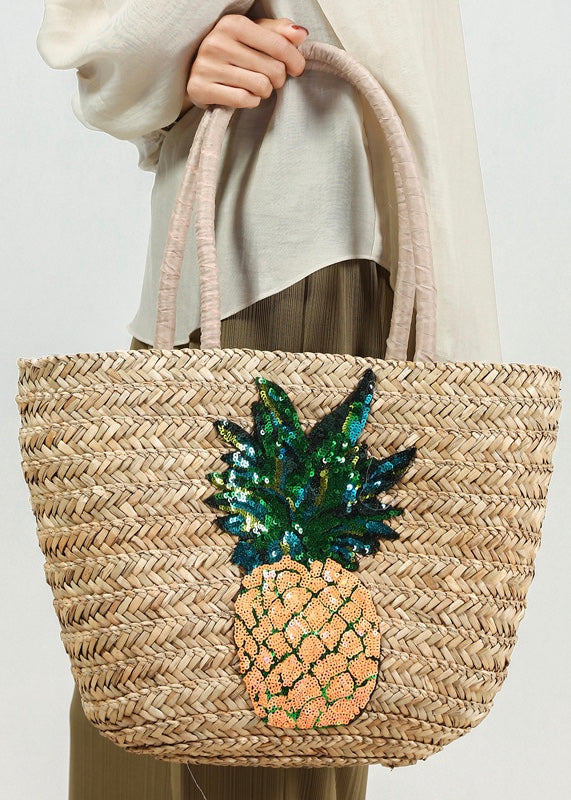 Pineapple Straw Bag
