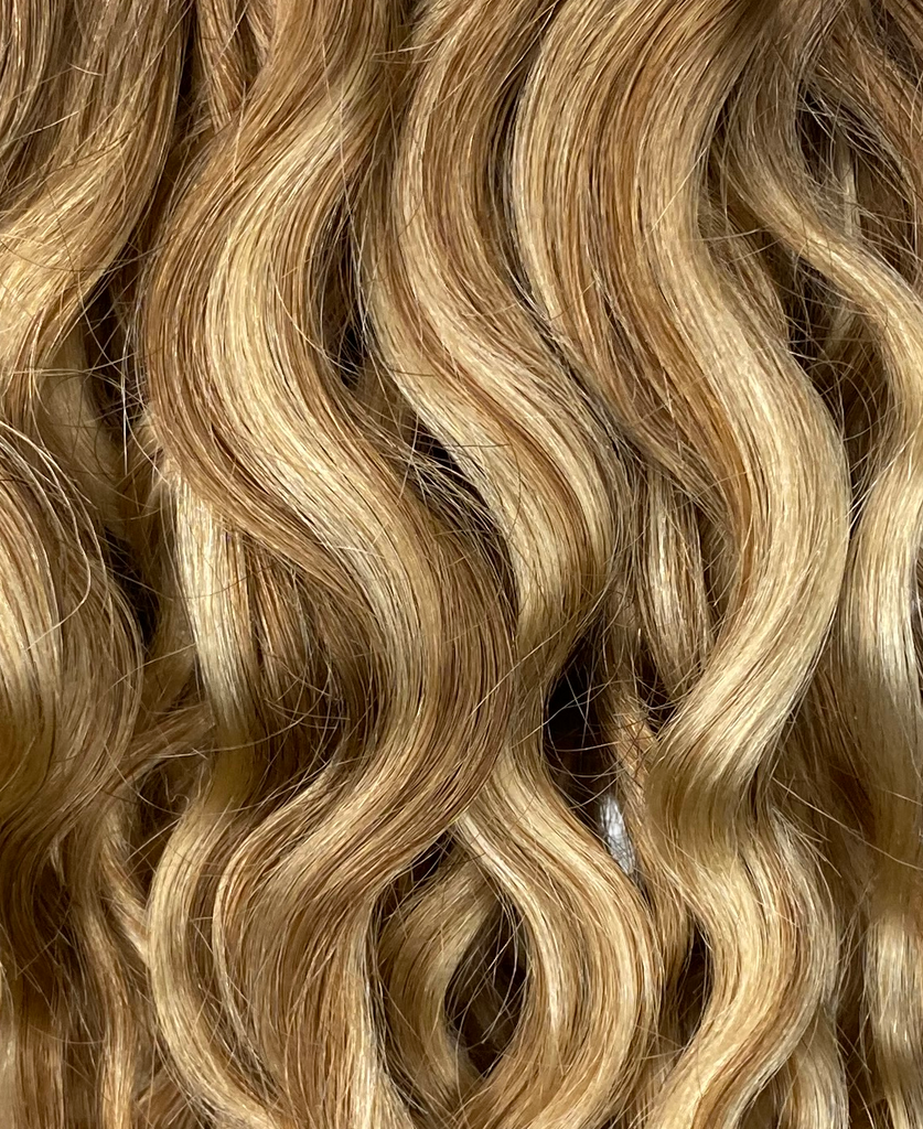 Wavy Curly Dark Blonde Balayage