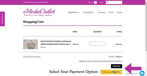 Select Payment Option