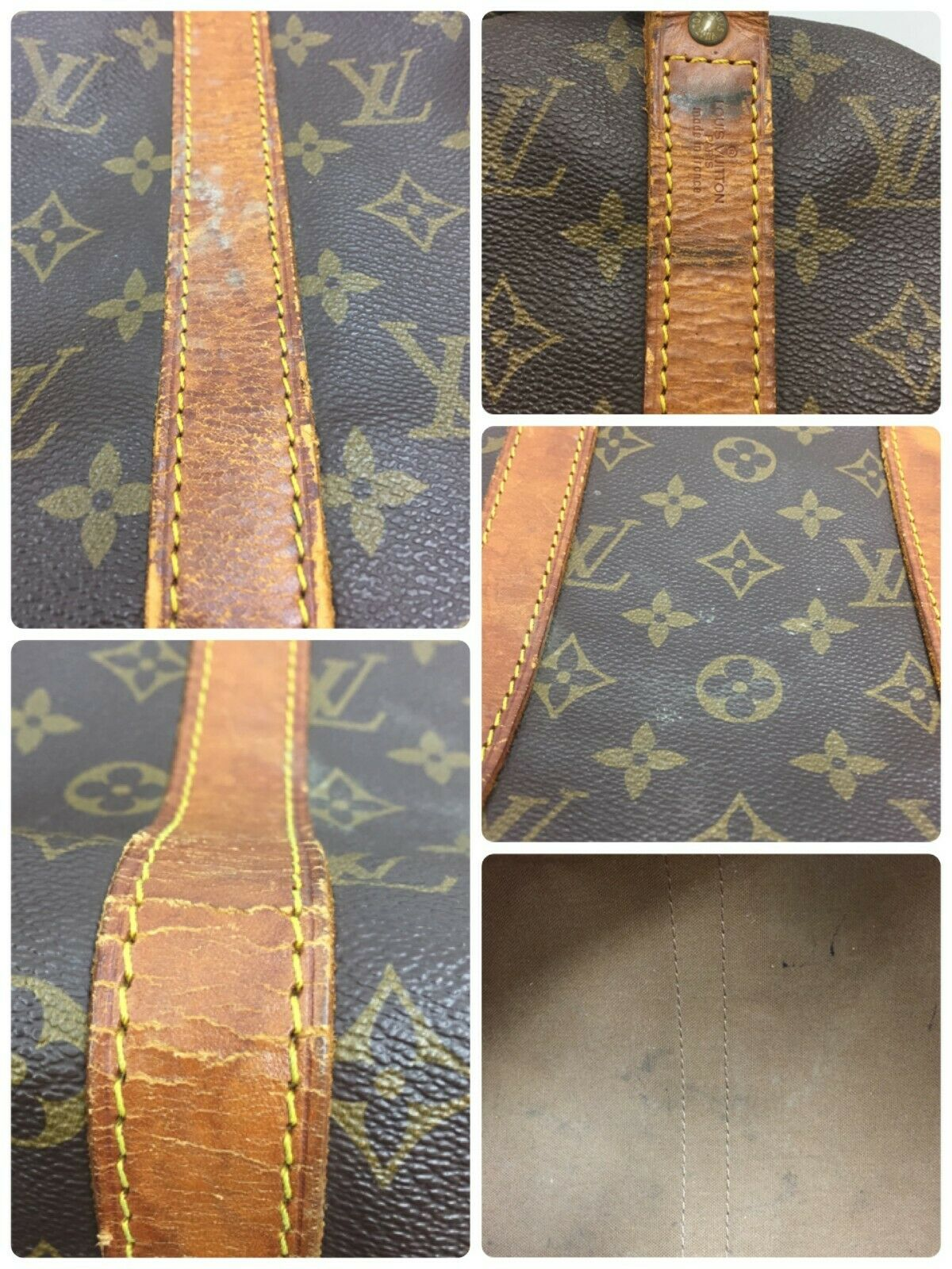 Louis Vuitton Keepall Bandouliere 45 Monogram Travel Bag 11438