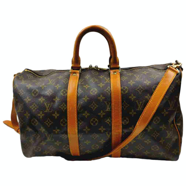 Louis Vuitton Keepall Bandouliere 45 M41418 Monogram Boston Travel Bag 11480
