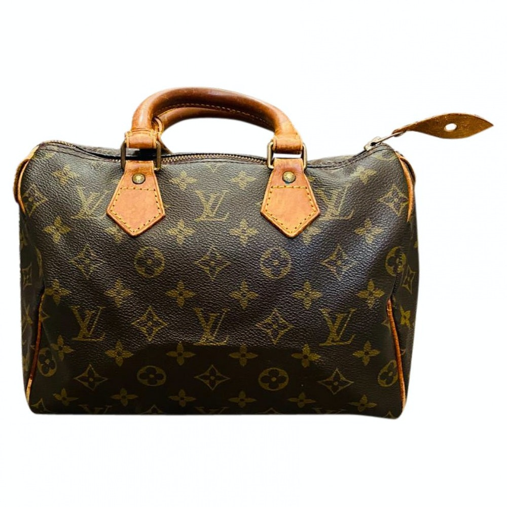 Louis Vuitton Speedy 25 M41528 Brown Monogram Hand Bag 11484