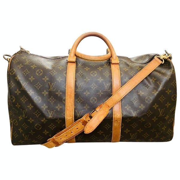 Louis Vuitton Keepall 50 Bandouliere  M41416 Brown Monogram Boston Bag 11506