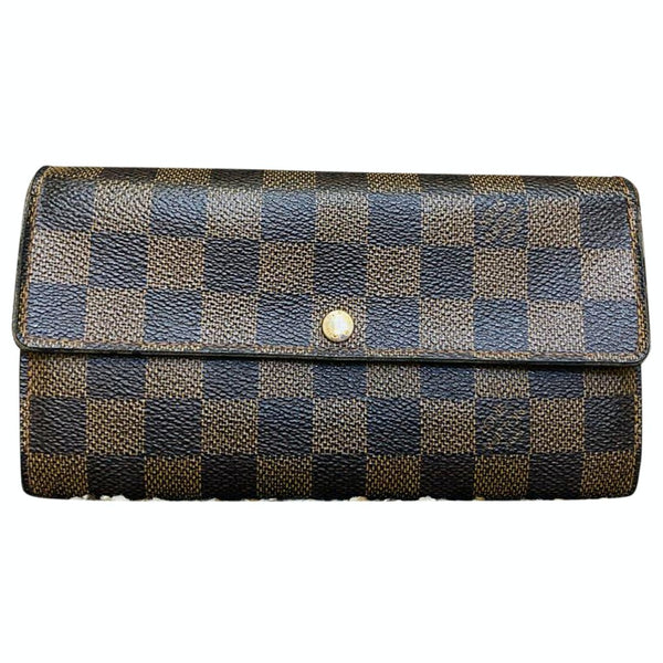 Louis Vuitton Portefeuille Sarah N61734 Brown Damier Long Wallet 11520