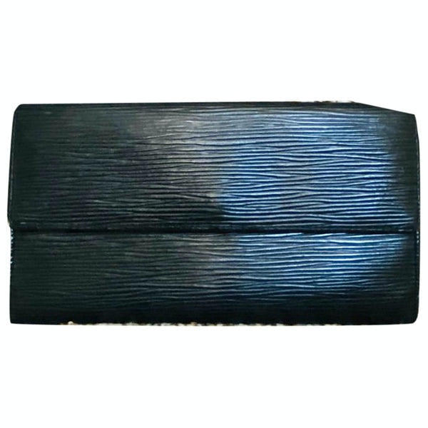 Louis Vuitton Portefeuille Sarah M63572 Black Epi Long Wallet 11521
