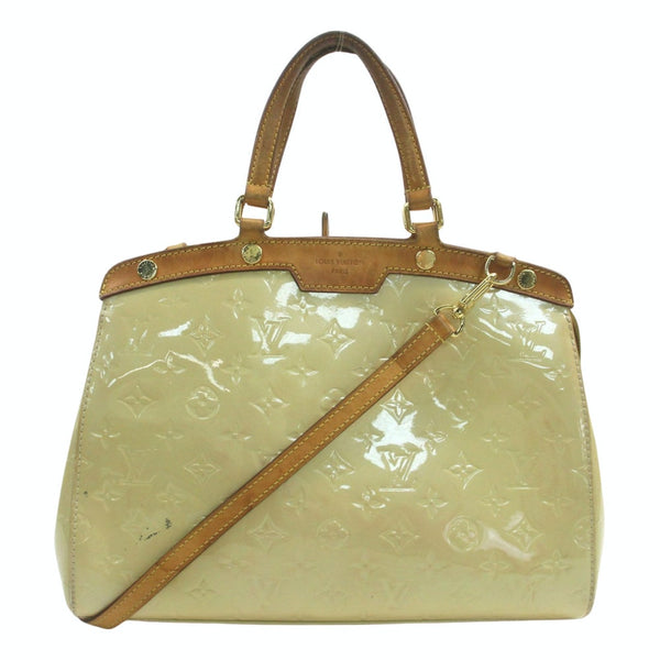 Louis Vuitton Brea Beige Vernis M90180 Hand Shoulder Bag 11523