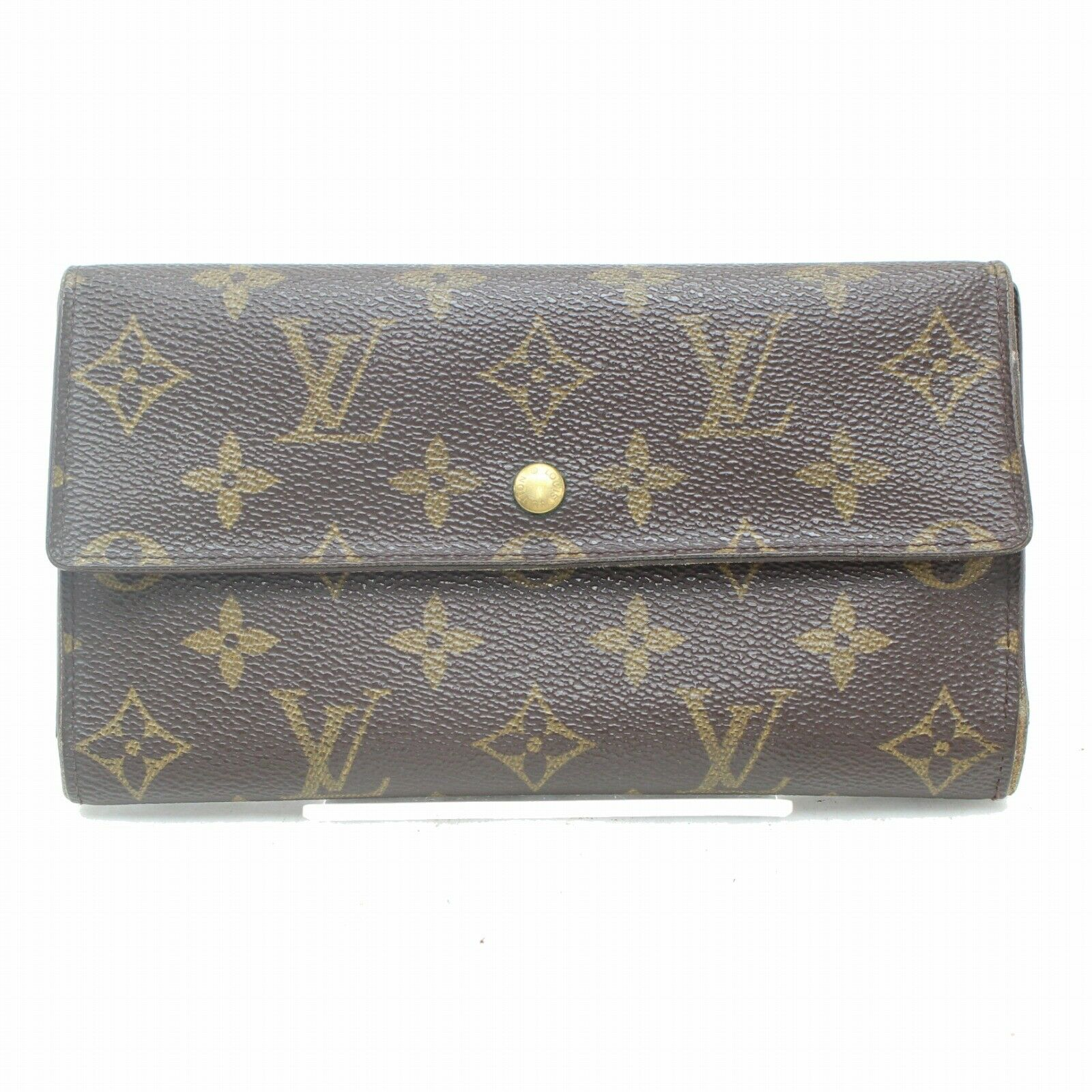 Louis Vuitton Portefeuille Tresor International M61215 Brown Long Wallet 11277