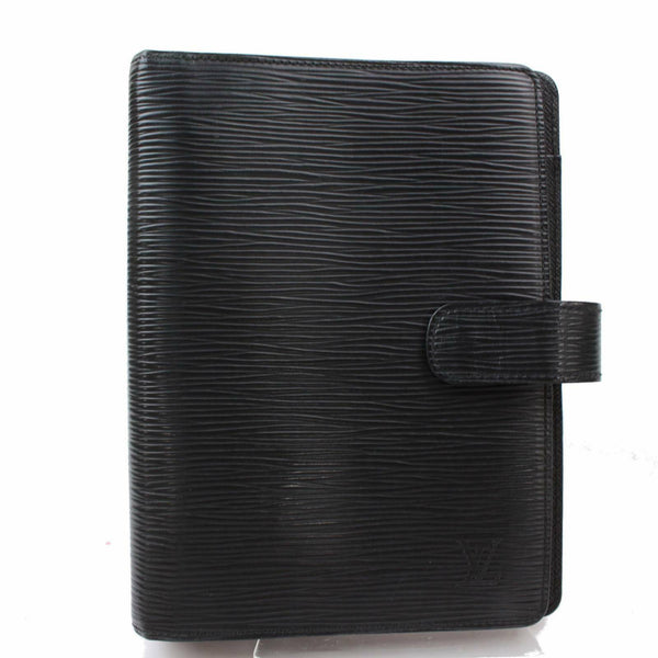 Louis Vuitton Agenda MM Black Epi Diary Cover 11440