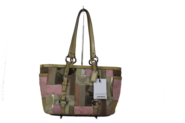 Coach Pink Leather Shoulder Bag 10451 - eModaOutlet