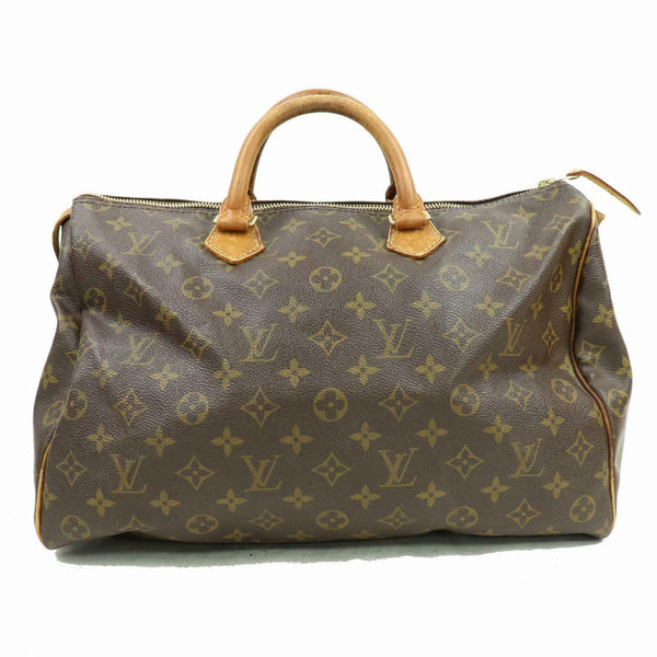 Louis Vuitton Speedy 35 M41524 Brown Monogram Hand Bag 11222