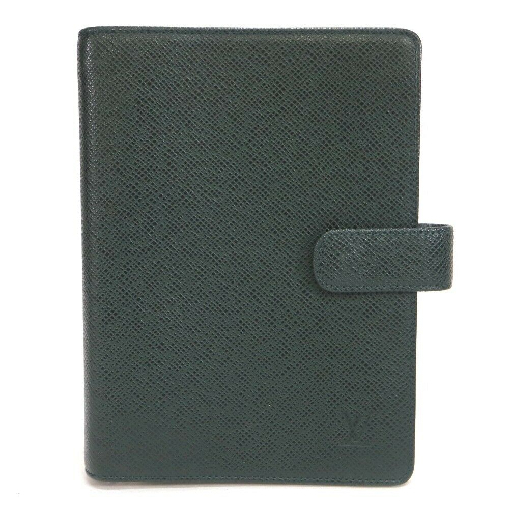 LOUIS VUITTON Taiga Black Diary Cover 11448
