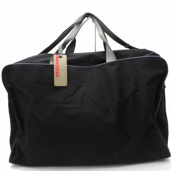 Prada Black Nylon Boston Bag 11103