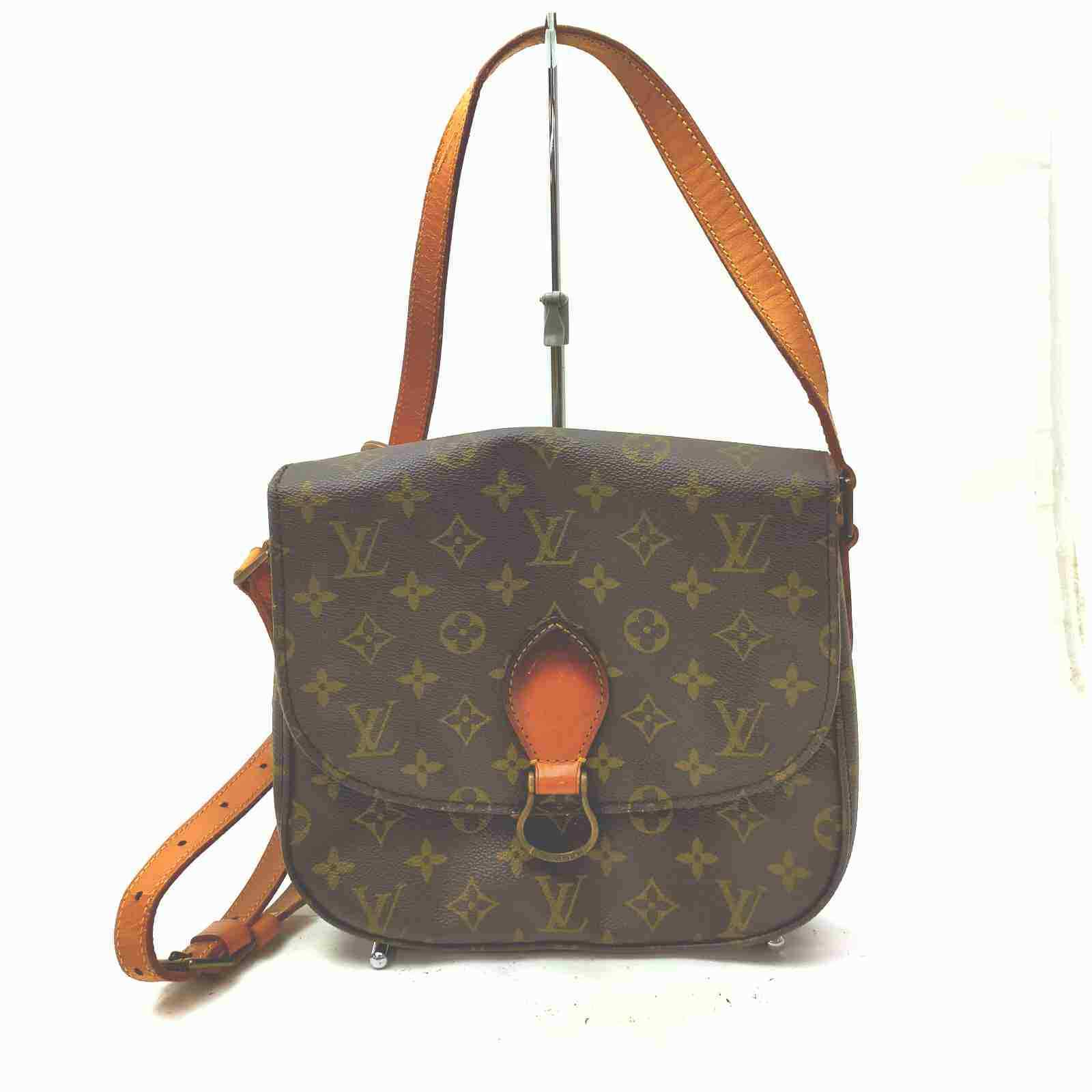 Louis Vuitton Saint Cloud GM M51242 Brown Monogram Shoulder Bag 11537