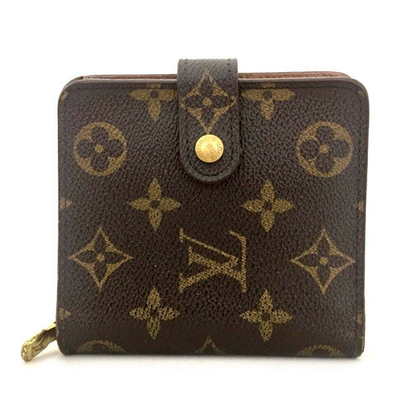 Louis Vuitton Compact Zip Bifold Brown Monogram Wallet  11564