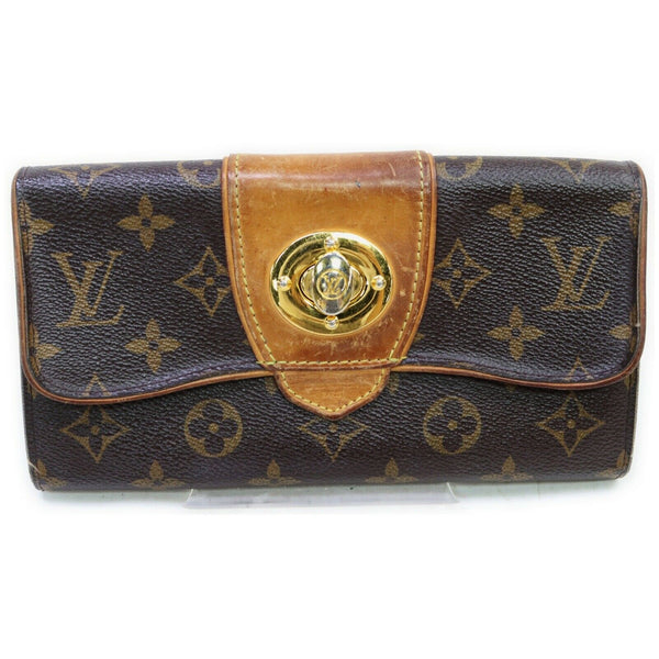 Louis Vuitton Portefeuille Boetie M63220 Brown Monogram Long Wallet 11545