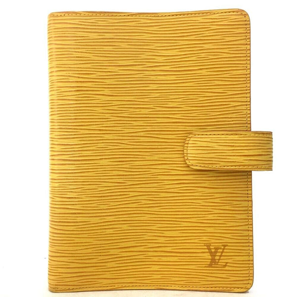 Louis Vuitton Agenda MM Epi Yellow Leather Notebook Cover 11534
